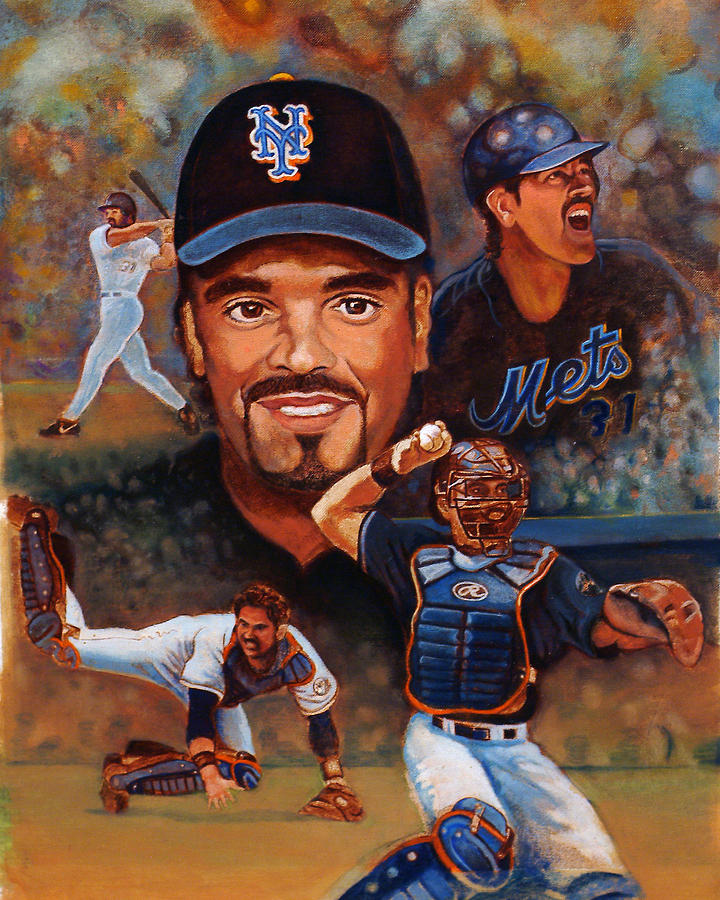 Mike Piazza Painting - Big Mike by John Kennedy Wilson