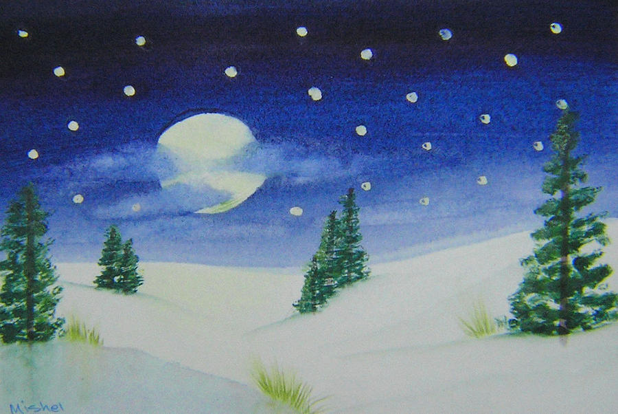 Big Moon Christmas by Mishel Vanderten