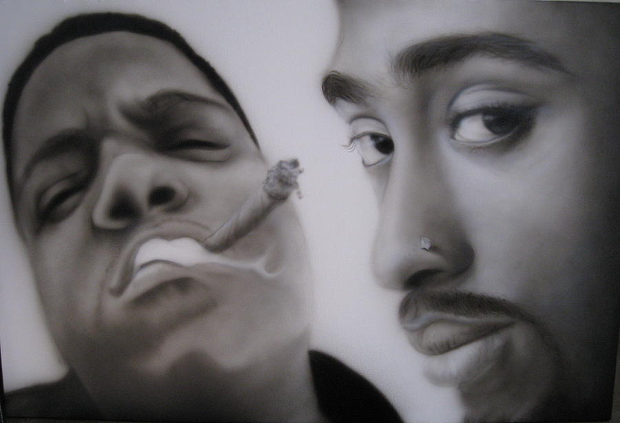 Black And White Painting - Big N Pac by Grant Kosh