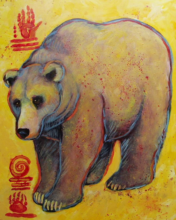 Big Ole Grizzly Bear Painting