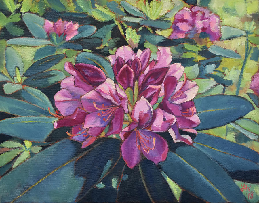 Rhododendron Painting - Big Pink Rhododendron by Lauren Waterworth