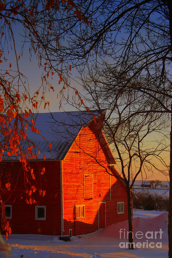 Barn Photograph - Big Red Barn by Julie Lueders