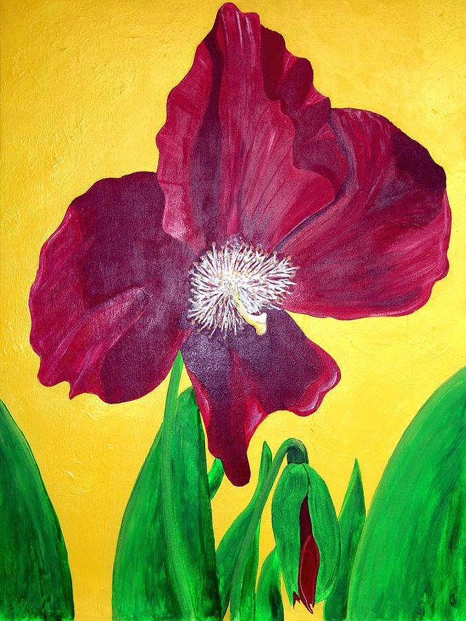 Flower Painting - Big Red by Camylle Moore