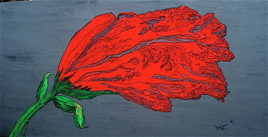 Big Red Floral by Kenlynn Schroeder