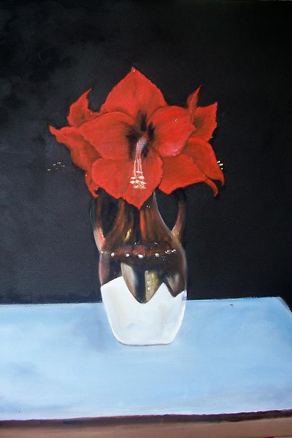 Flowers Painting - Big Red Flowers by Martha Mullins