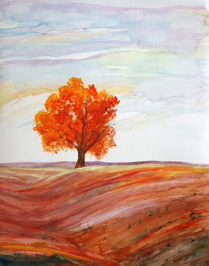 Trees Painting - Big Red by Julie Lueders