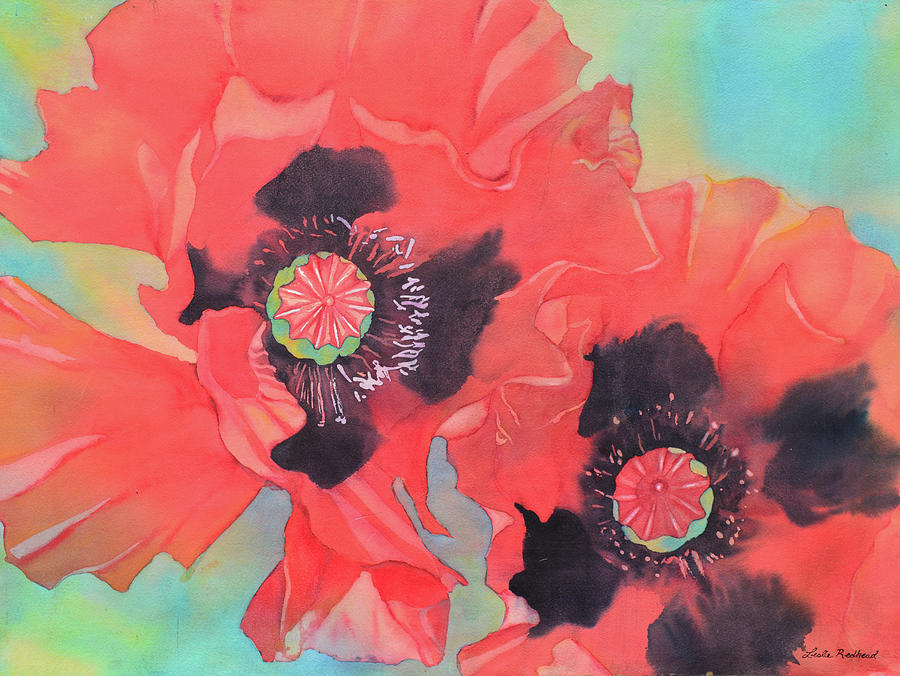 Floral Painting - Big Red by Leslie Redhead
