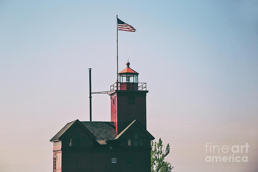 Lighthouse Photograph - Big Red Lighthouse by Scott Pellegrin