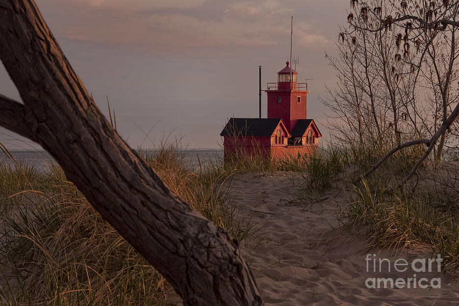 Michigan Photograph - Big Red Lighthouse Visit Www.angeliniphoto.com For More by Mary Angelini