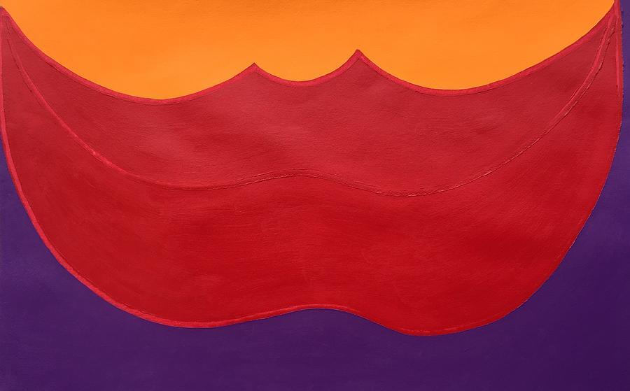 Lips Painting - Big Red Lips by Matthew Brzostoski