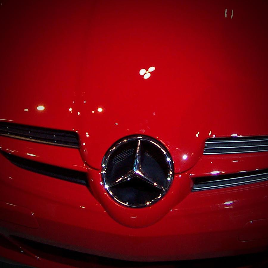 Mercedes Benz Logo Photograph - Big Red Smile - Mercedes-Benz S L R McLaren by Serge Averbukh