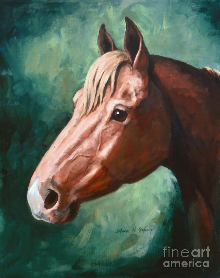 Horse Painting - Big Red Snip    Horse Painting by JoAnne Corpany