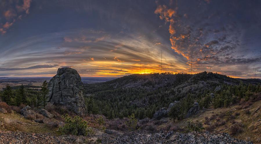 Tower Mountain Photograph - Big Rock Panorama by Mark Kiver