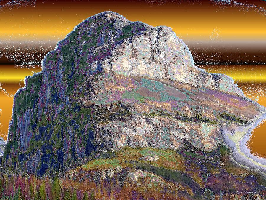 Blue Painting - Big Rock by Wayne Bonney