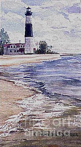 Lighthouse Painting - Big Sable Light by Michael Lyzenga