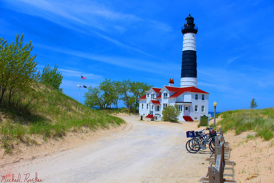 Lighthouse Photograph - Big Sable Point Lighthouse by Michael Rucker