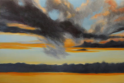 Skyscape Painting - Big Sky 3 by Anne Bradford
