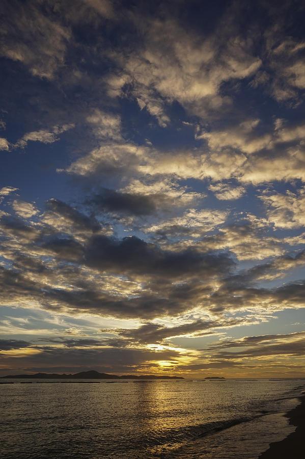 Bay Photograph - Big Sky Beach Sunset #9493 by Don Charisma