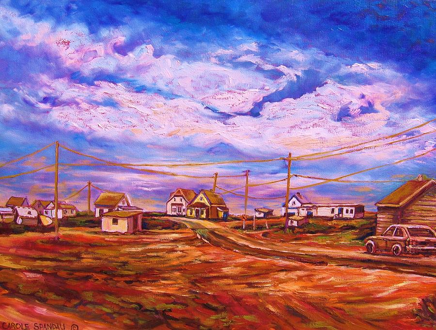 Cloudscape Painting - Big Sky Red Earth by Carole Spandau