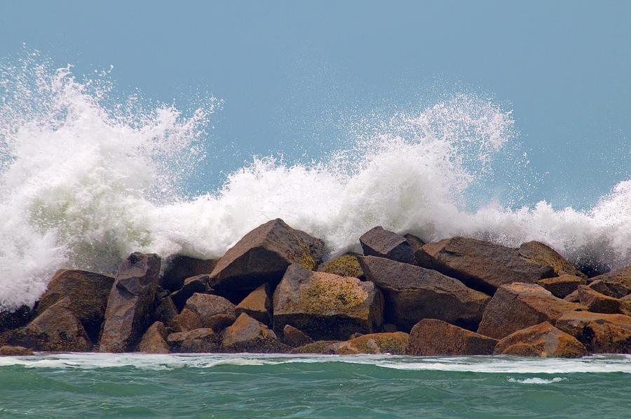 Water Photograph - Big Splash by Dan Holm