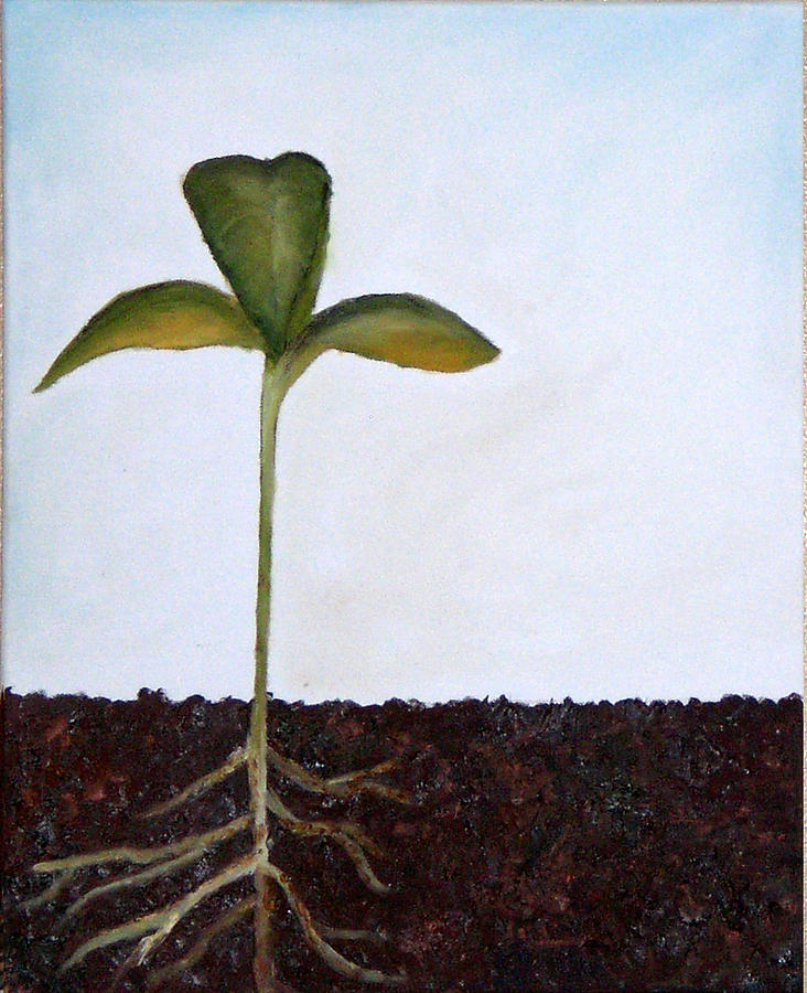 Sprout Painting - Big Sprout by Kristen Cothron