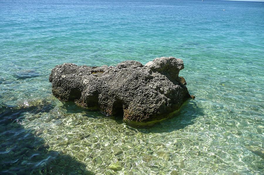 Big Stone Photograph - Big Stone Adriatic Coast Croatia by Olga Kurygina