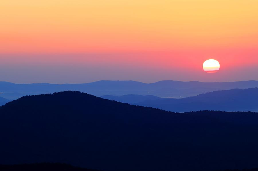 Big Sunrise Off Blue Ridge Parkway Photograph By Carol R
