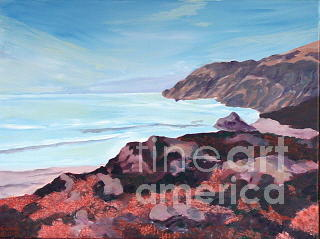 Landscape Painting - Big Sur Coast by Darlene Boyd
