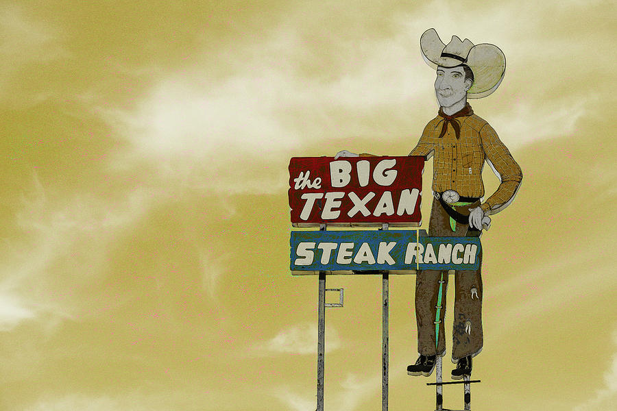 Amarillo Photograph - Big Texan Steak Ranch - #5 by Stephen Stookey