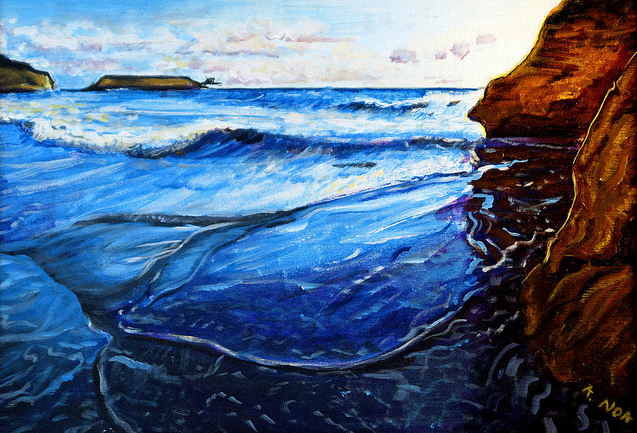 Sea Painting - Big Tides In Vergnes by Aymeric NOA