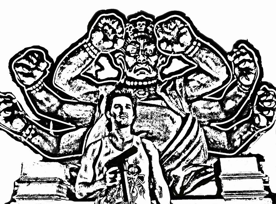 Black And White Painting - Big Trouble In Little China by Jeff DOttavio
