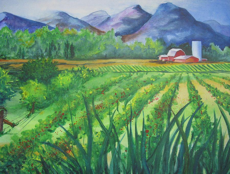 Landscape Painting - Big Valley Farm by Karen Stark