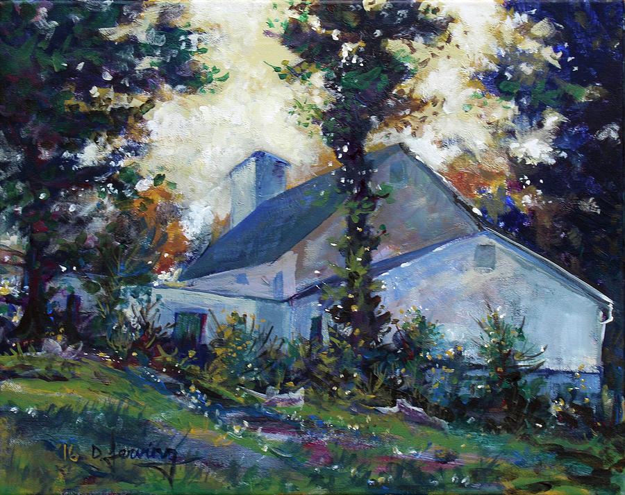 Big Walnut Baptist Church - Original Acrylic 20x16 Painting by Doug Jerving