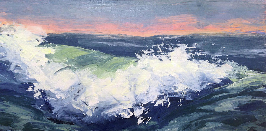 Landscape Painting - Big Wave #1 by Mary Byrom