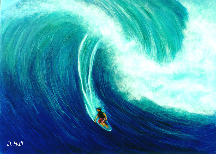Hawaiian Beaches Painting - Big Wave North Shore Oahu #285 by Donald k Hall