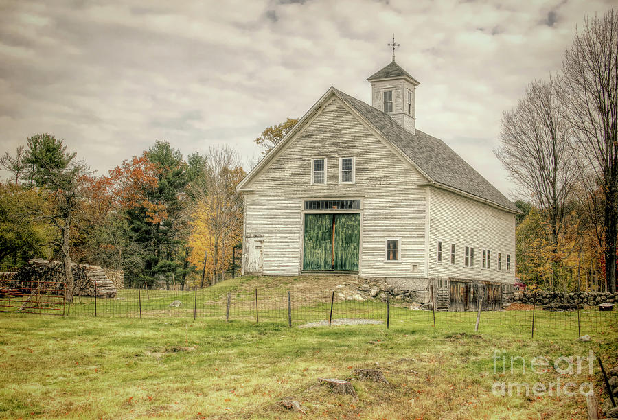 Old Barns Photograph - Big White Barn by Diana Nault