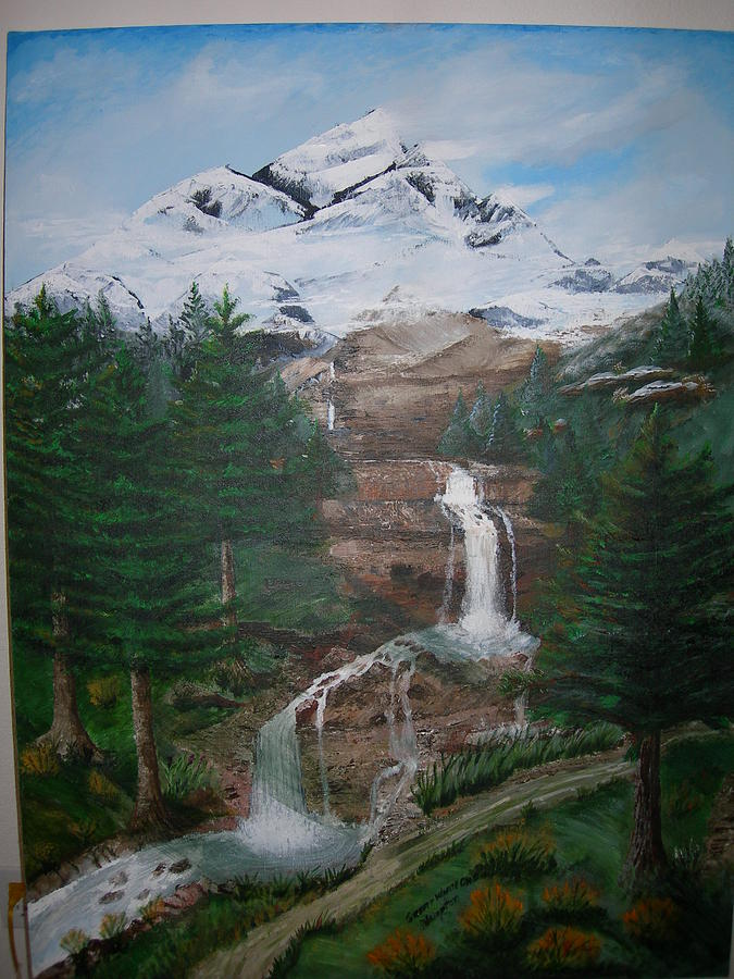 Landscape Painting - Big White One by Jack Hampton