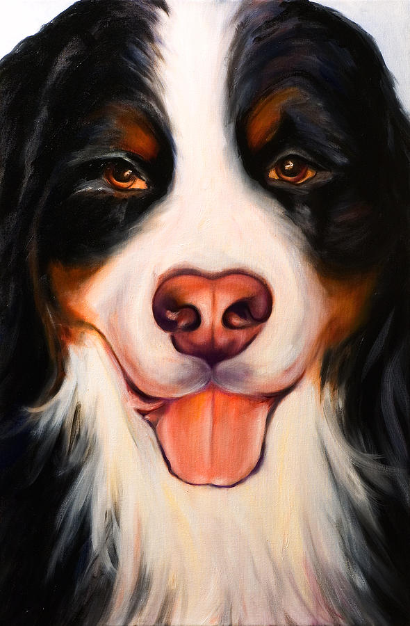 Dog Painting - Big Willie by Shannon Grissom