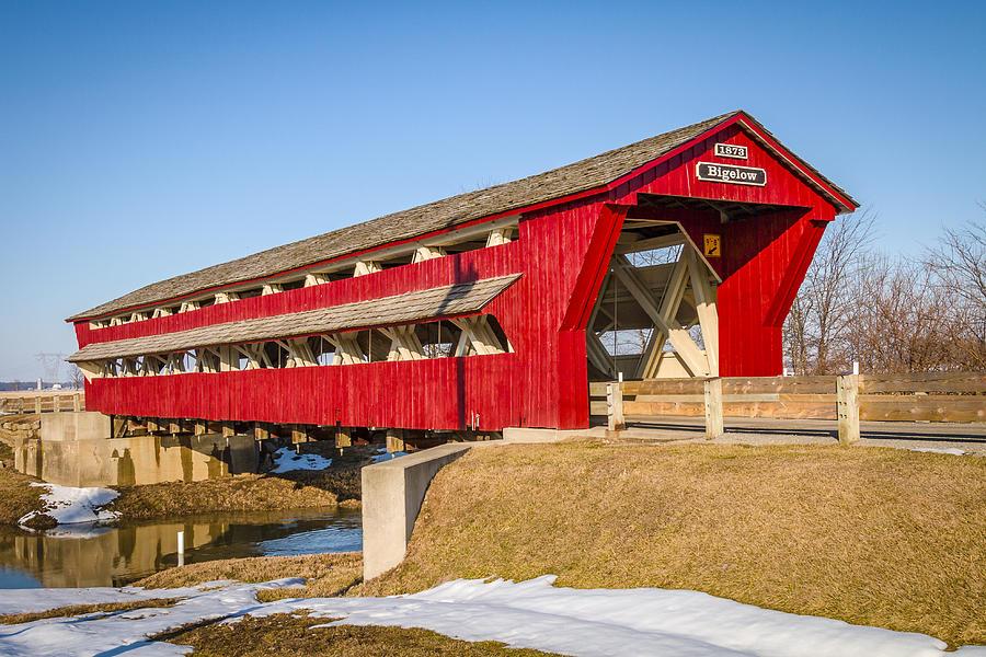 Bigelow/little Covered Bridge Photograph