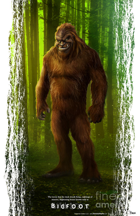 Bigfoot Digital Art - Bigfoot by Darrin Brege