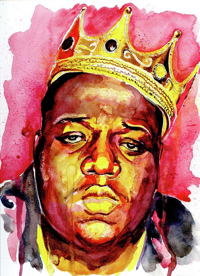Biggie Smalls Crown Painting By Jarold Cadion
