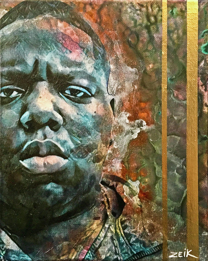 Biggie Painting - Biggie - Stick And Move by Bobby Zeik
