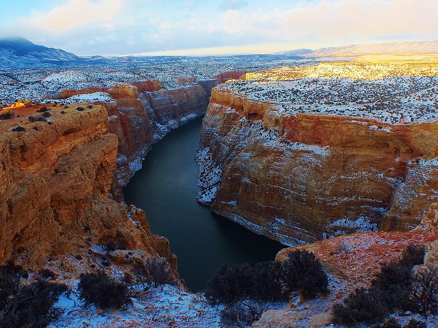 Bighorn Canyon In Winter Photograph by George Bannister