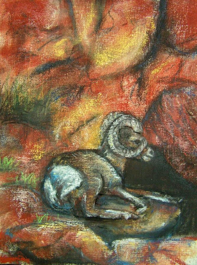 Wildlife Painting - Bighorn by Darla Joy  Johnson