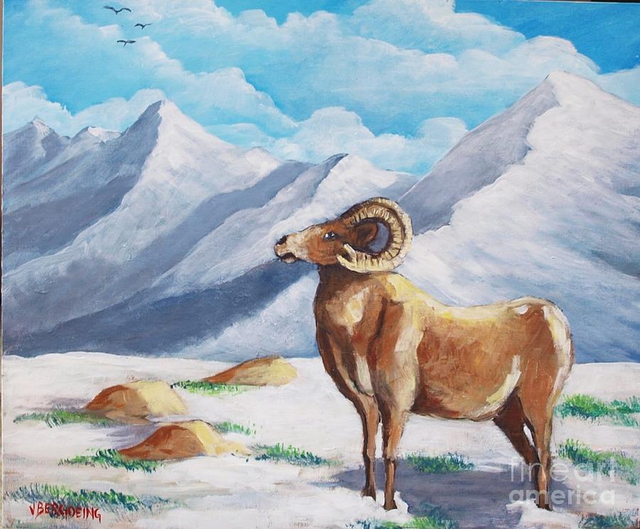 Bighorn Painting - Bighorn Kam by Jean Pierre Bergoeing