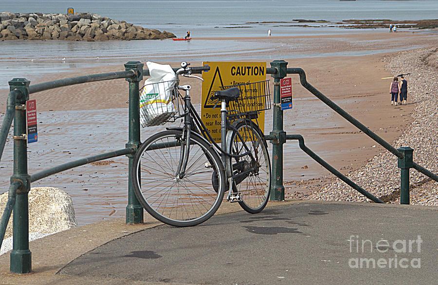 Bike Photograph - Bike Against Railings by Andy Thompson