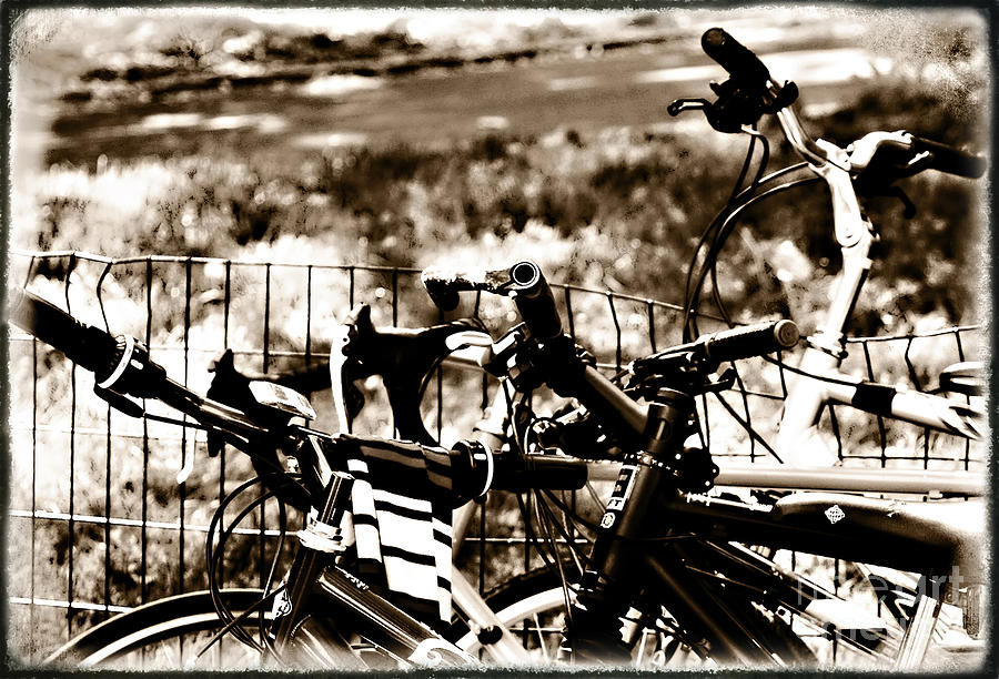 Bike Photograph - Bike Against The Fence by Madeline Ellis