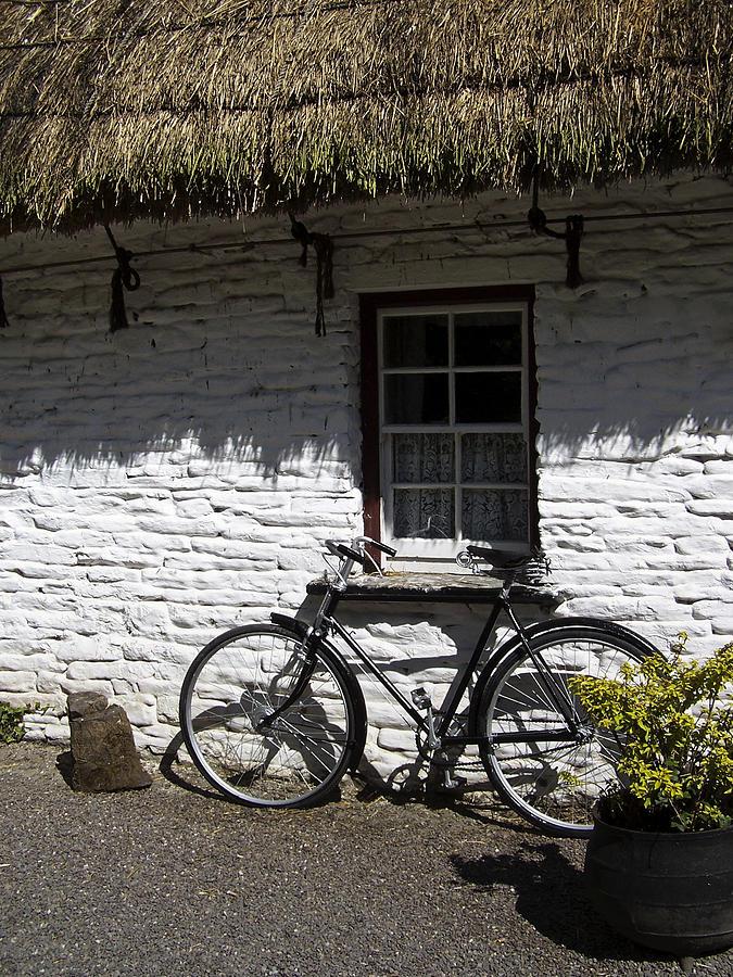Irish Photograph - Bike At The Window County Clare Ireland by Teresa Mucha