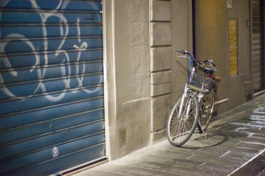 Ancient Photograph - Bike In Florence by Andre Goncalves