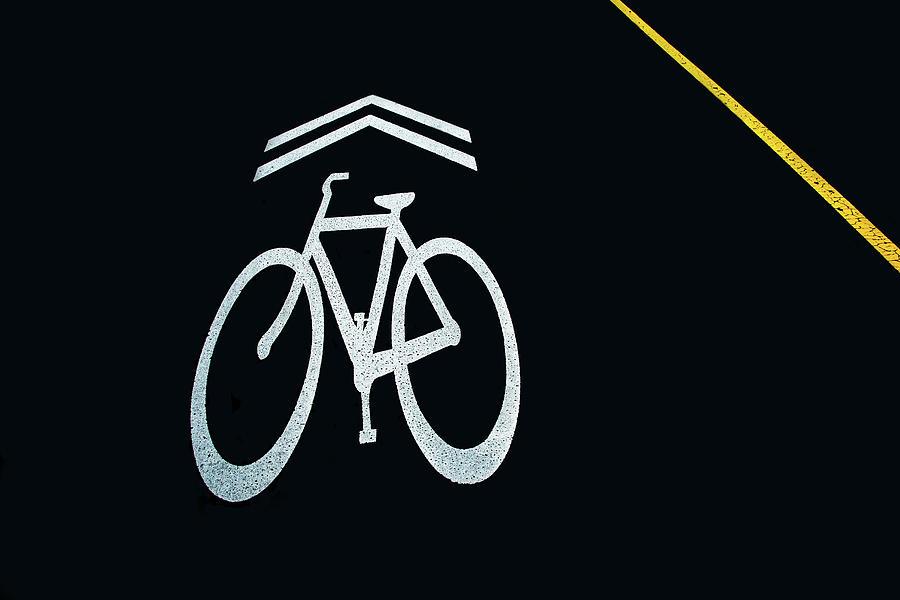 Bike Lane Symbol And Boundary Photograph By Gary Slawsky